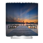 Sunset Over Barnegat Bay Shower Curtain