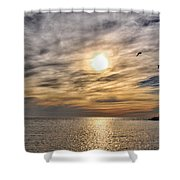 Sunset Over Bay Shower Curtain