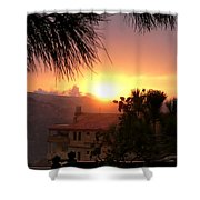 Sunset Over Bcharre, Lebanon Shower Curtain
