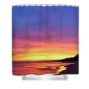 Sunset Over Beach Shower Curtain