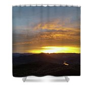 Sunset Over Black Canyon And River #1 Shower Curtain