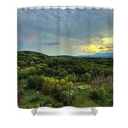Sunset Over Blue Hill Shower Curtain