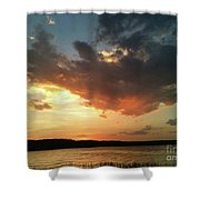 Sunset Over Bridgeport Lake Shower Curtain