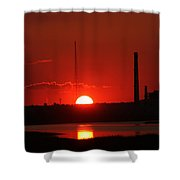 Sunset Over Bridgeport Shower Curtain