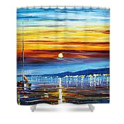 Sunset Over California Shower Curtain