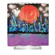Sunset Over Capital Square Shower Curtain