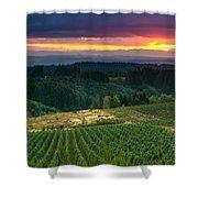 Sunset Over Central Oregon 4 Shower Curtain
