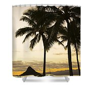 Sunset Over Chinamans Hat Shower Curtain