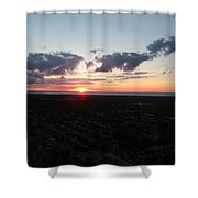 Sunset Over Cleveland Shower Curtain