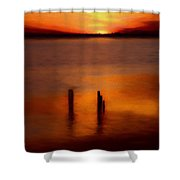 Sunset Over Currituck Sound Ap Shower Curtain