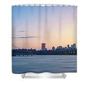 Sunset Over Downtown Manhattan Shower Curtain