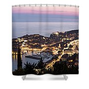 Sunset Over Dubrovnik In Croatia Shower Curtain