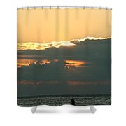 Sunset Over Egg Harbor Wi Shower Curtain