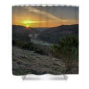 Sunset Over Forest Shower Curtain