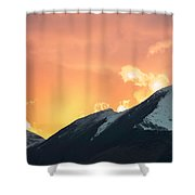 Sunset Over Grisedale Pike And The Coledale Horsehoe, Lake Distr Shower Curtain