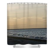 Sunset Over Gulf Of Mexico 1 Shower Curtain
