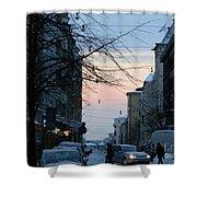 Sunset Over Helsinki Shower Curtain