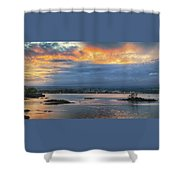 Sunset Over Hilo Shower Curtain