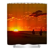 Sunset Over Indiana Dunes Shower Curtain