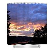 Sunset Over Kalamalka Shower Curtain