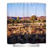 Sun Setting Over Kings Canyon - Northern Territory, Australia Shower Curtain
