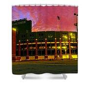 Sunset Over Lambeau Field Shower Curtain