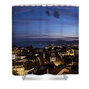 Sunset Over Lausanne   Shower Curtain