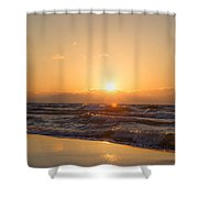 Sunset Over  Shower Curtain
