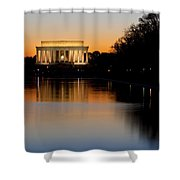 Sunset Over Lincoln Memorial Shower Curtain