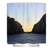 Sunset Over Lovers Beach Shower Curtain