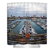 Sunset Over Marina Shower Curtain