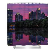 Sunset Over Midtown Shower Curtain by Doug Sturgess