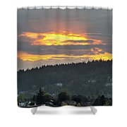 Sunset Over Mount Talbert In Happy Valley Shower Curtain