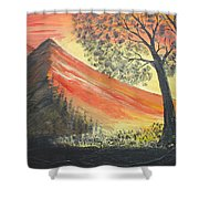 Sunset Over Mountains Shower Curtain