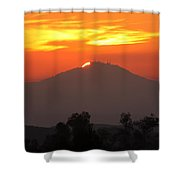 Sunset Over Mt. Woodson Shower Curtain
