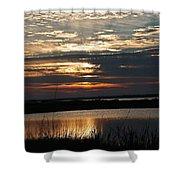 Sunset Over Navarre Shower Curtain