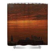 Sunset Over New York Shower Curtain