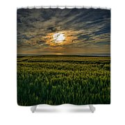 Sunset Over North Pas De Calais In France Shower Curtain