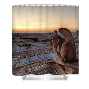 Sunset Over Paris Shower Curtain