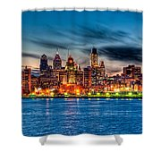 Sunset Over Philadelphia Shower Curtain