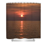Sunset Over Pula Shower Curtain