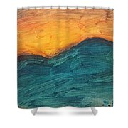 Sunset Over Rendezvous  Shower Curtain