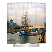Sunset Over River  Liffey 2 Shower Curtain