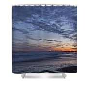 Sunset Over Rye New Hampshire Coastline Shower Curtain