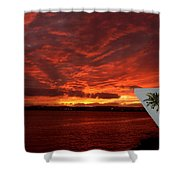 Sunset Over San Diego Shower Curtain