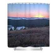 Sunset Over San Juan Islands Shower Curtain