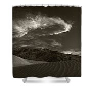 Sunset Over Sand Dunes Death Valley Shower Curtain