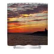 Sunset Over Sandy Neck Lighthouse Shower Curtain