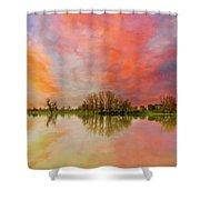 Sunset Over Sauvie Island Shower Curtain