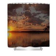 Sunset Over Shark River Shower Curtain